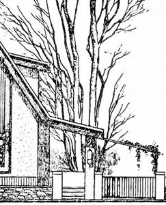 Вход в дом на загородном участке