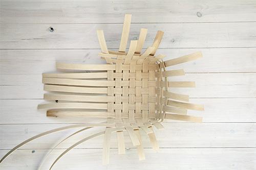 Плетение корзин из шпона своими руками
