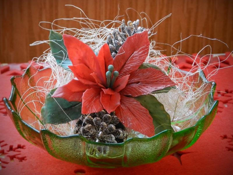 Рождественская звезда или пуантессия своими руками