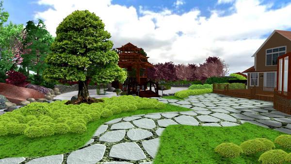 Планируем сад японском стиле