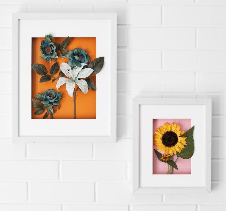 Как сделать стенку с цветами