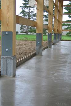 бетонный плитный фундамент