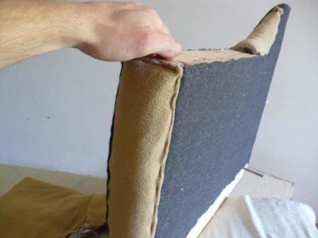 Обшивка боковин дивана