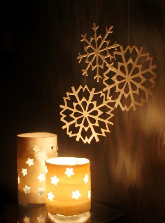 Снежинки из полимерной глины