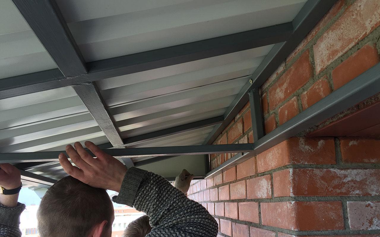 ремонт крыши балконов своими руками