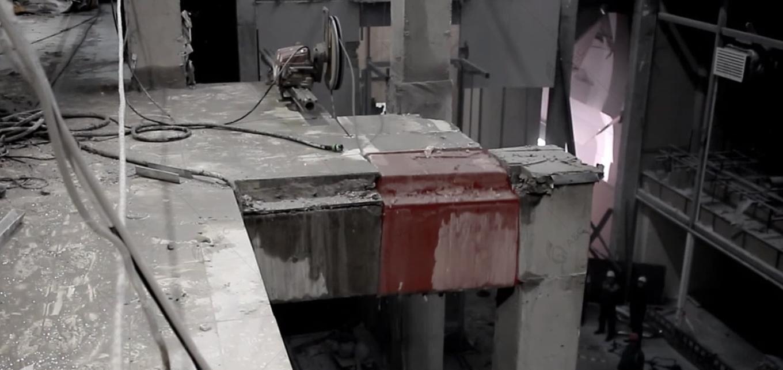 канатная резка бетонного перекрытия