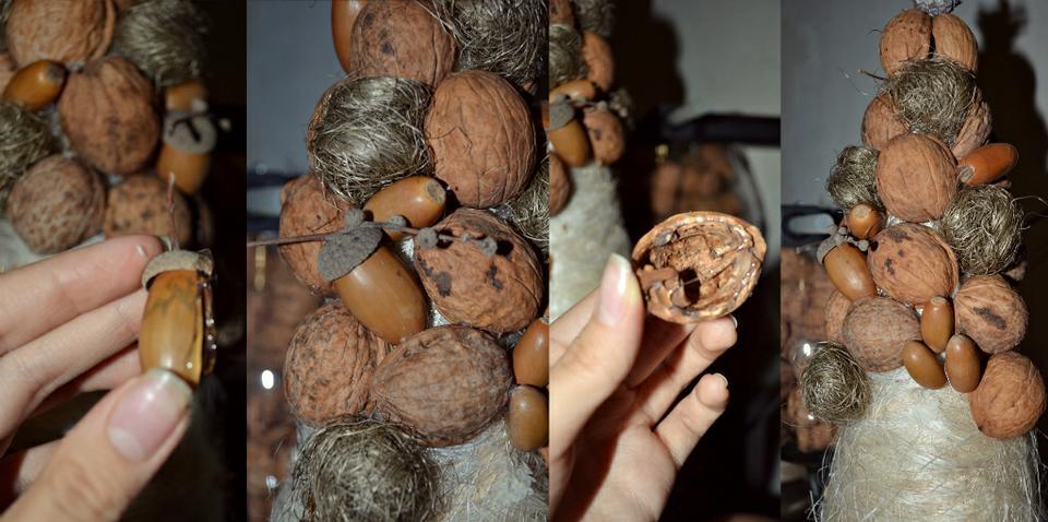 Елки из орехов