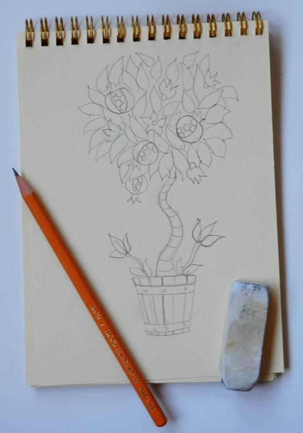 Эскиз для росписи