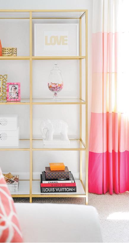 розовые шторы омбре