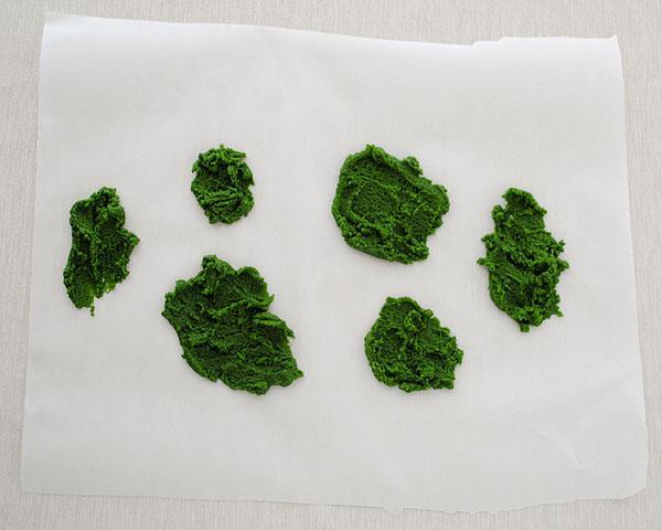 Зеленое печенье