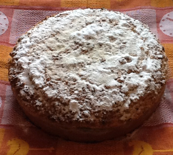 Пирог с пудрой