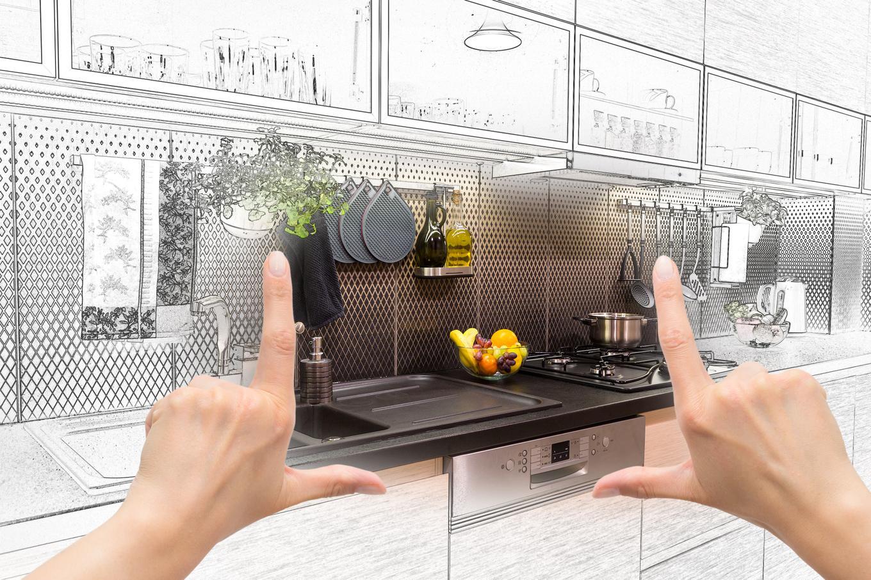 Дизайн ипространство современной кухни