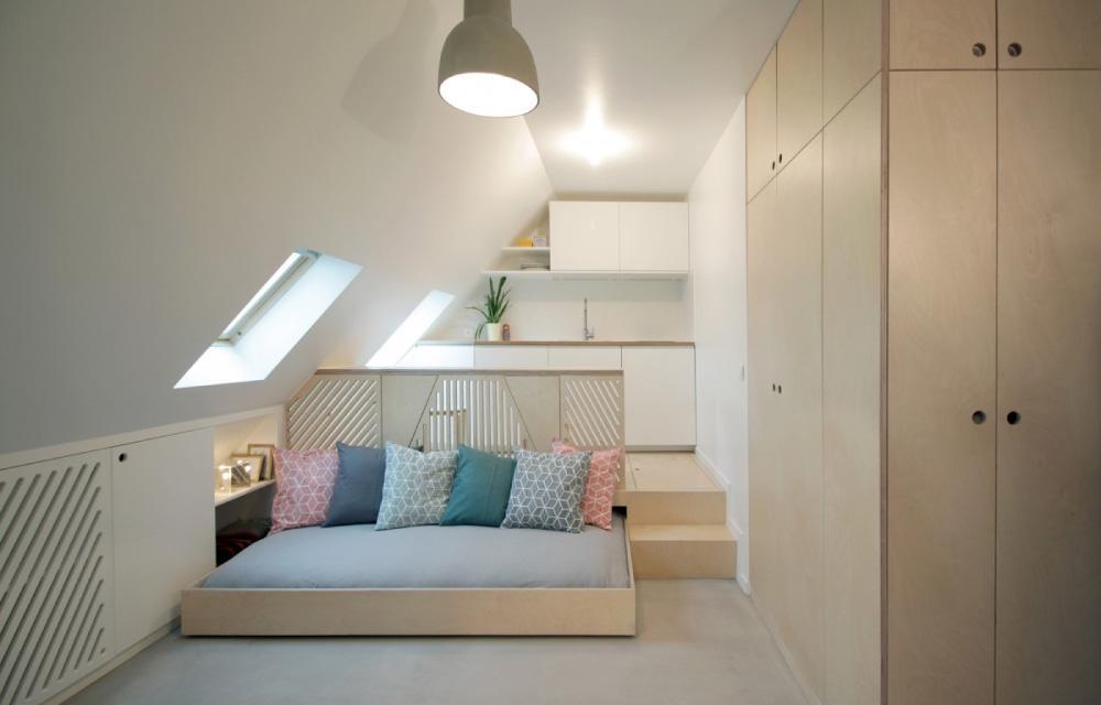 Кровать, незанимающая места,— спасение для маленькой квартиры