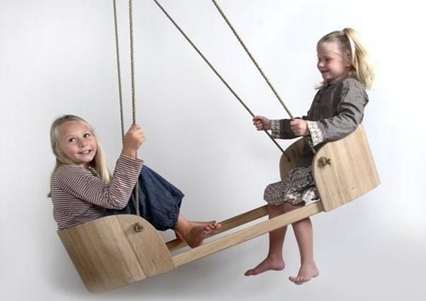 Как сделать деревянные качели своими руками. 30фото-идей + базовая инструкция