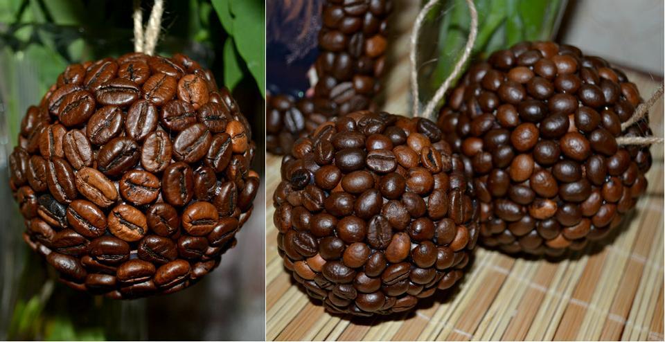 Новогодний шар из кофе