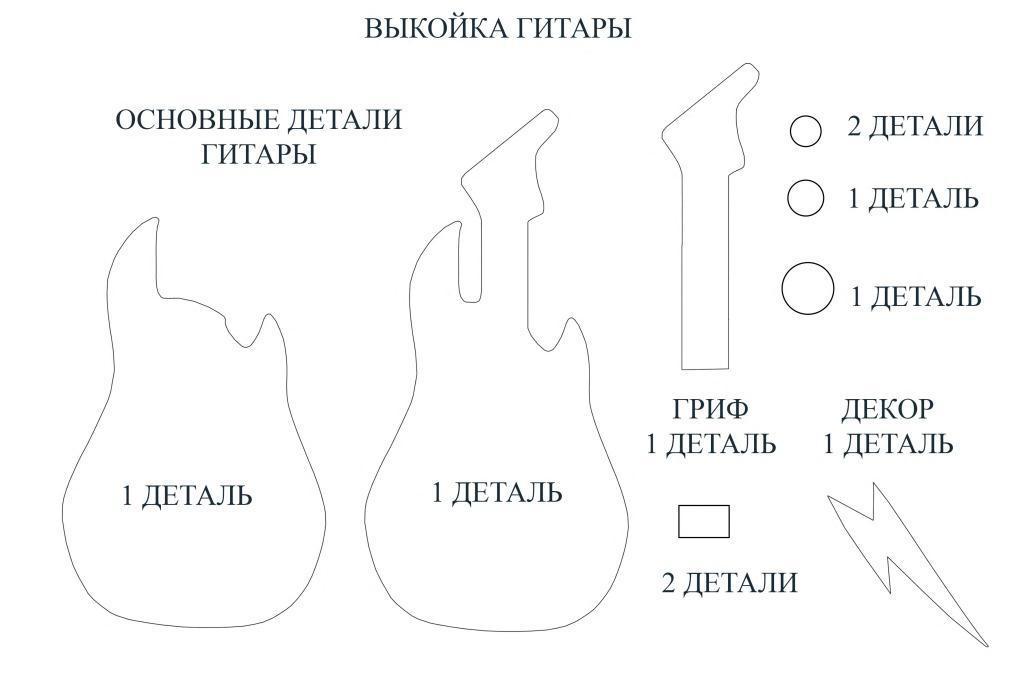 Выкройка гитары