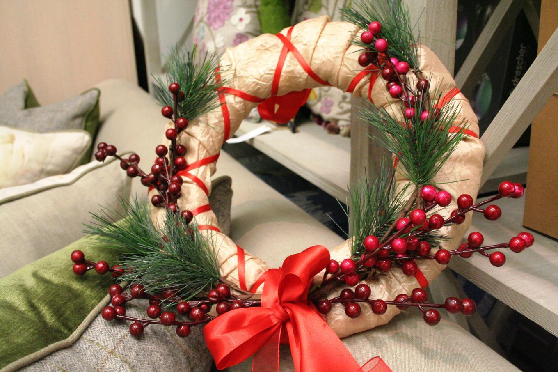 Рождественские венки своими руками фото
