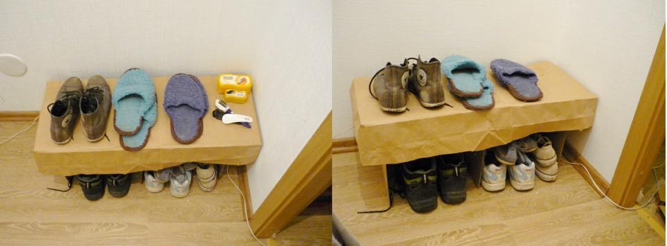 Временная мебель из гофрокартона
