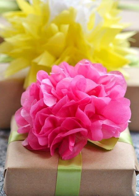 Декоративные бумажные цветы