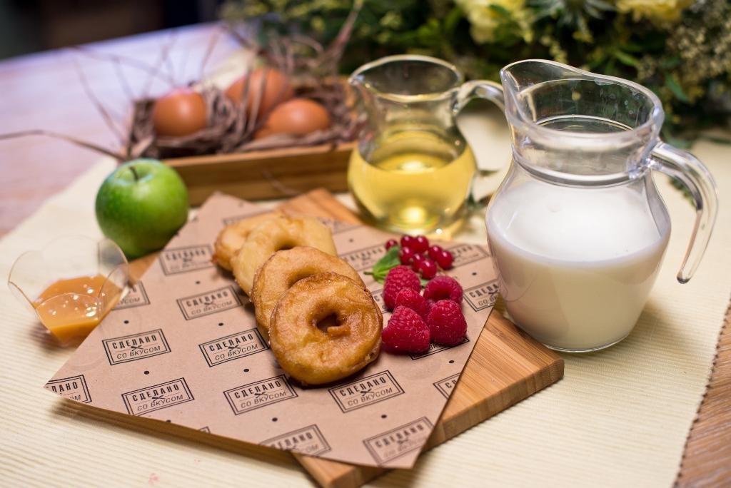 Пончики изяблок «Для папы»— пошаговый рецепт сфото