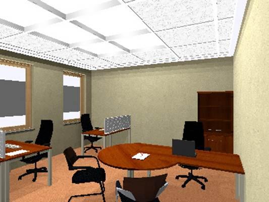Простая визуализация офисного пространства