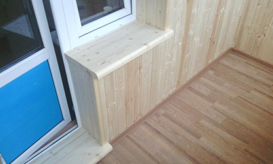 Обшить балкон деревянной вагонкой своими руками фото