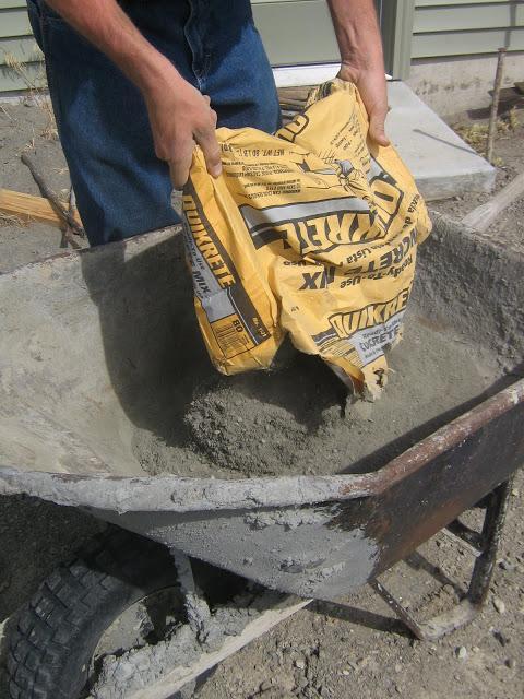 Цемент как сделать раствор пропорции для дорожки