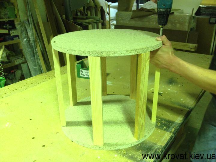 Как сделать пуфик круглой формы