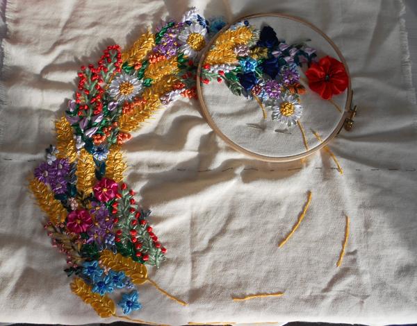 Технология вышивки лентами