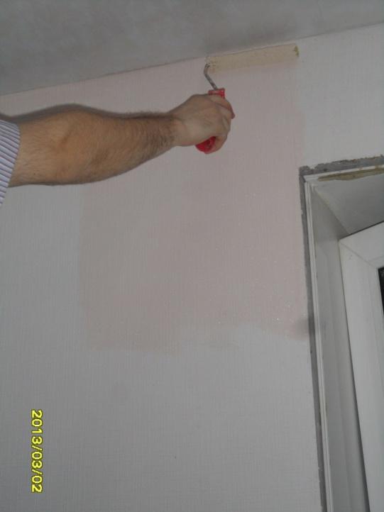 как покрасить стены валиком фото