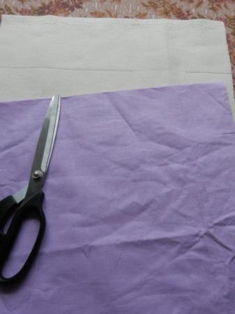 готовим ткань к пошиву сумки фото