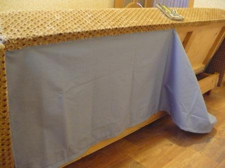 Крепление ткани к дивану