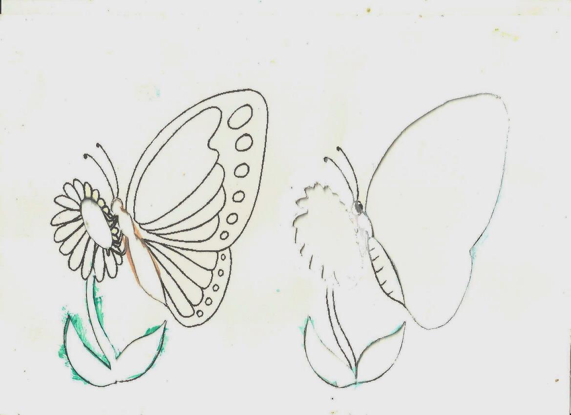 Как своими руками сделать бабочку нарисовать 57