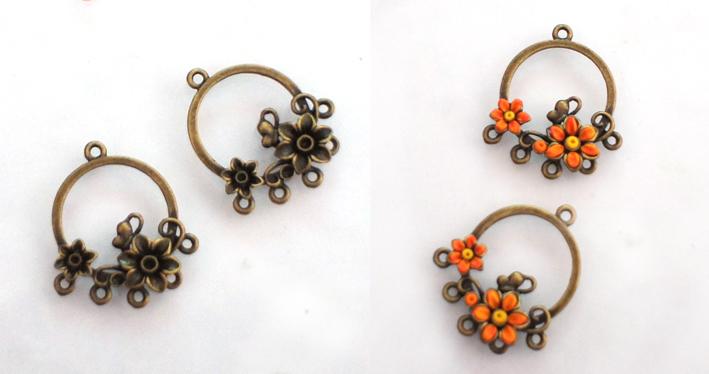 Сережки-цветочки из полимерной глины своими руками 75