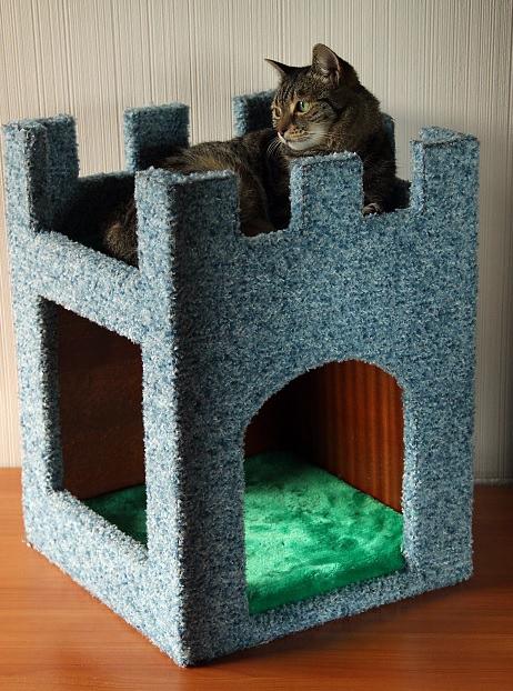 Напольный домик для кошки