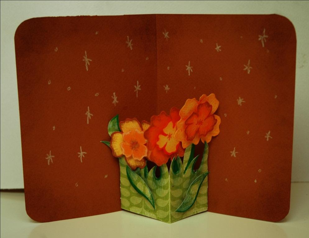 Открытки с объемными цветами своими 872