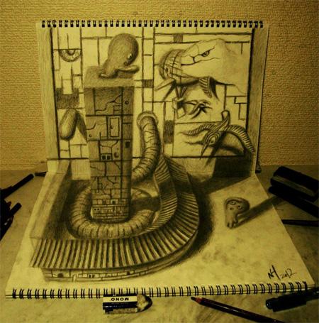 3d рисунки на бумаге своими руками