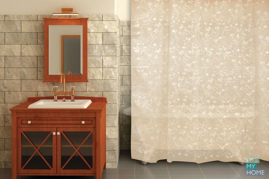 Фото занавесок для ванной комнаты. Тренды 2016