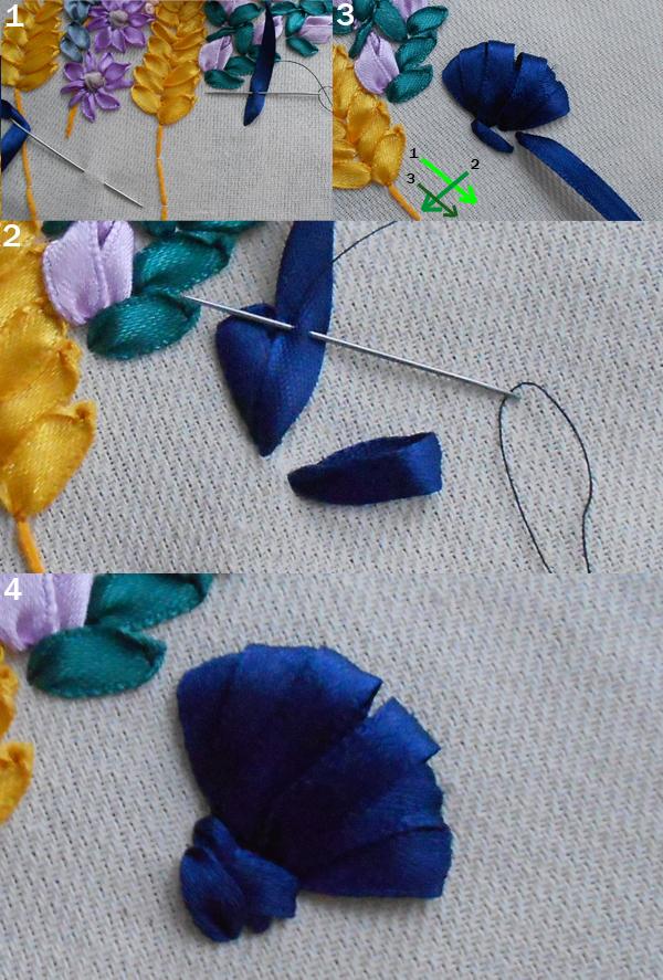 Технология вышивки лентами: