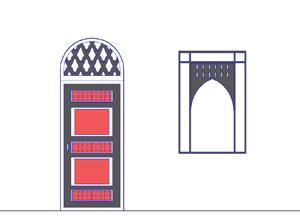 Марокканский стиль: оконные рамы дополняются металлическими арками