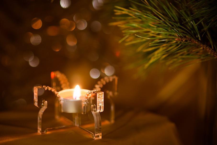 Светильник со свечкой