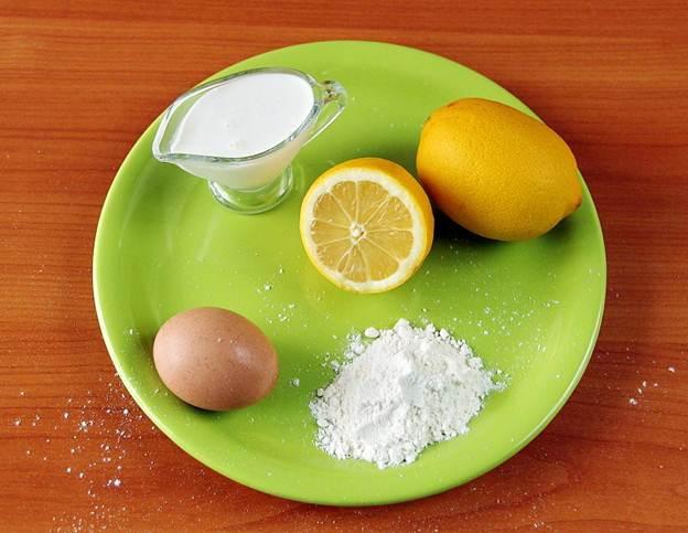 Ингредиенты для лимонного пудинга