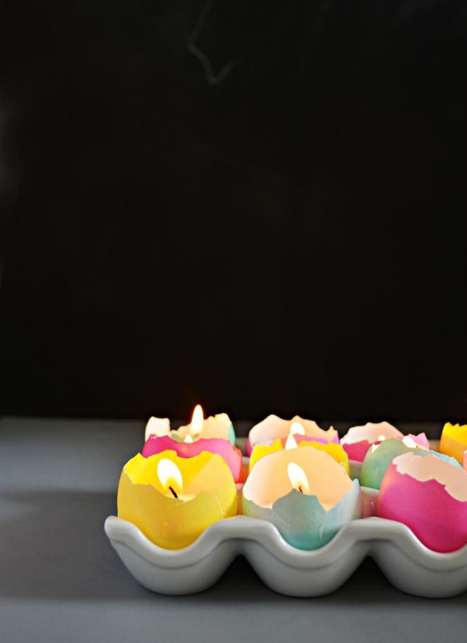 Необычные пасхальные свечи