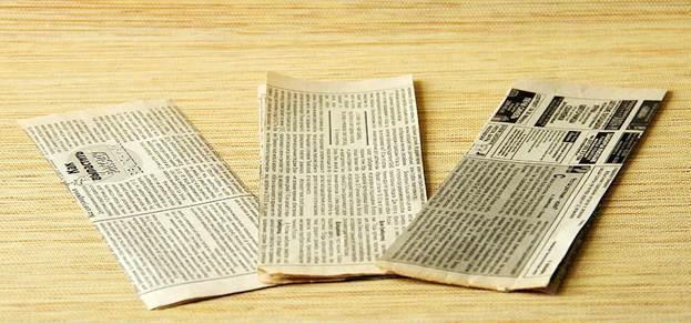 Полоски из газеты