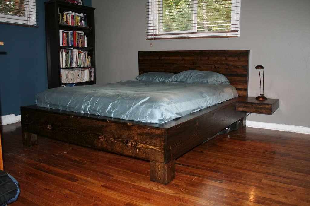 Кровать своими руками в домашних условиях с фото из дерева 96