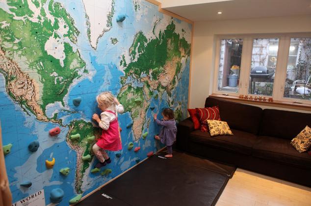 for Kids room world map