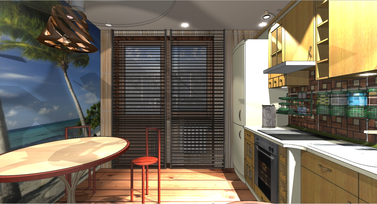 Дизайн кухни с фотообоями 10 кв м фото