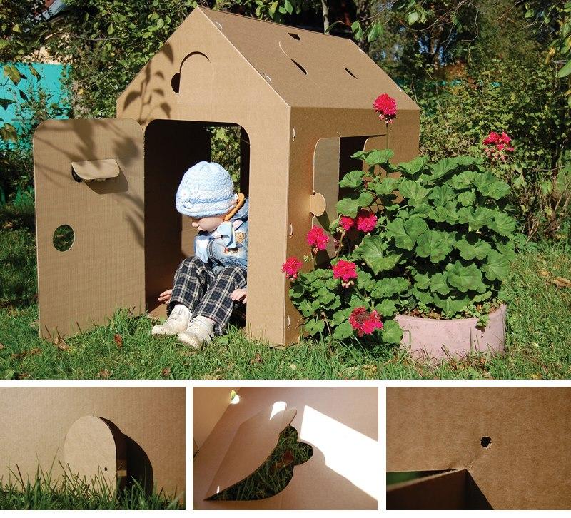 домик из картона фото
