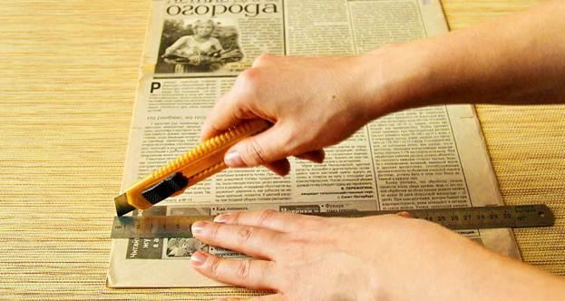 Нарезка газеты