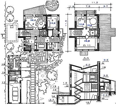 Планировка загородного дома на участке. Пример планировки